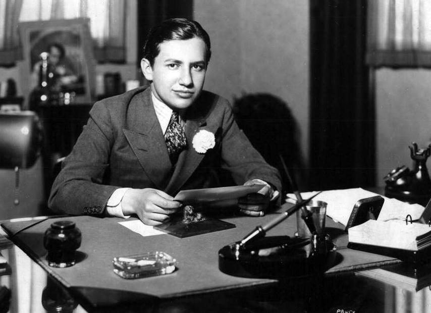 Carl Laemmle Jr at his desk