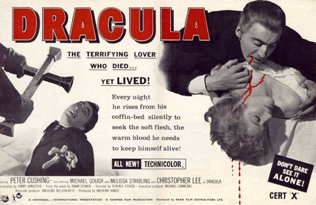Hammer Horror's poster for Dracula