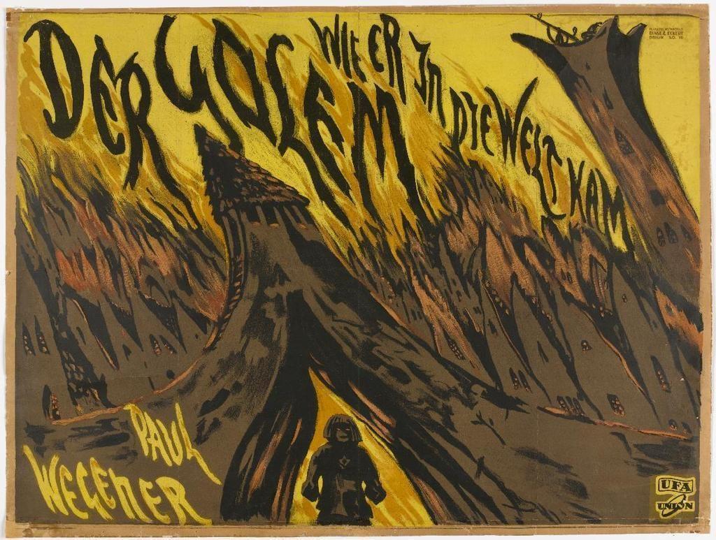The Golem (1920), 1920s horror movies