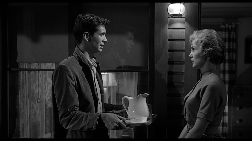 Norman (Anthony Perkins) and Marion (Janet Leigh) n Psycho (1960)
