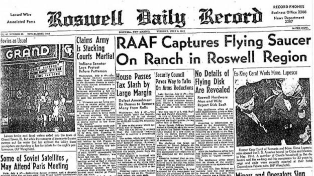 Roswell Crash 1947 Headline