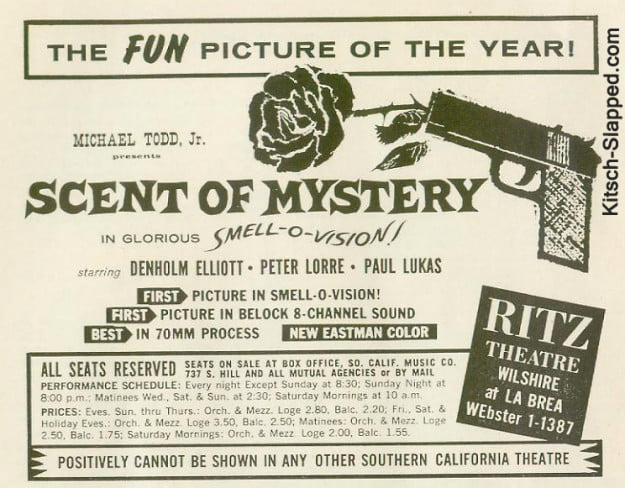 Smell O Vision promo for Scent of Mystery (1959)