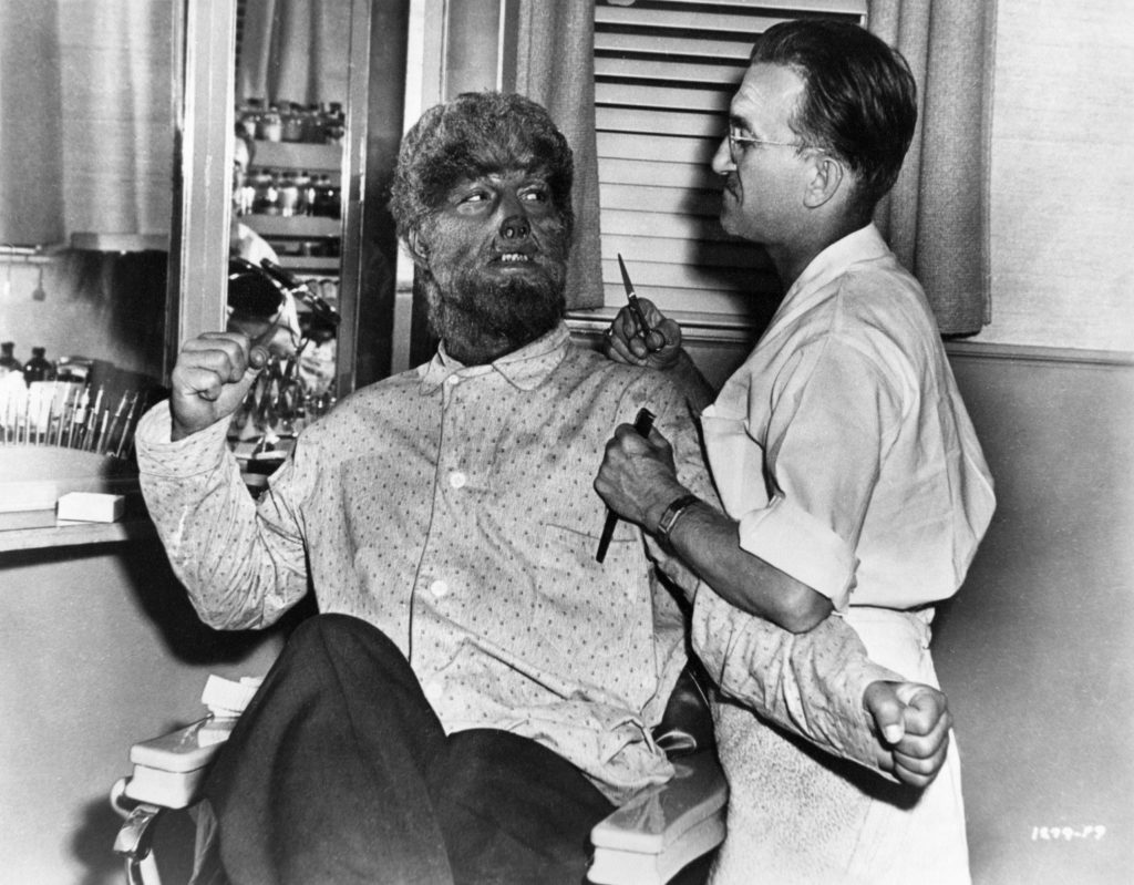 Pierce & Chaney on set of The Wolf Man (1941)