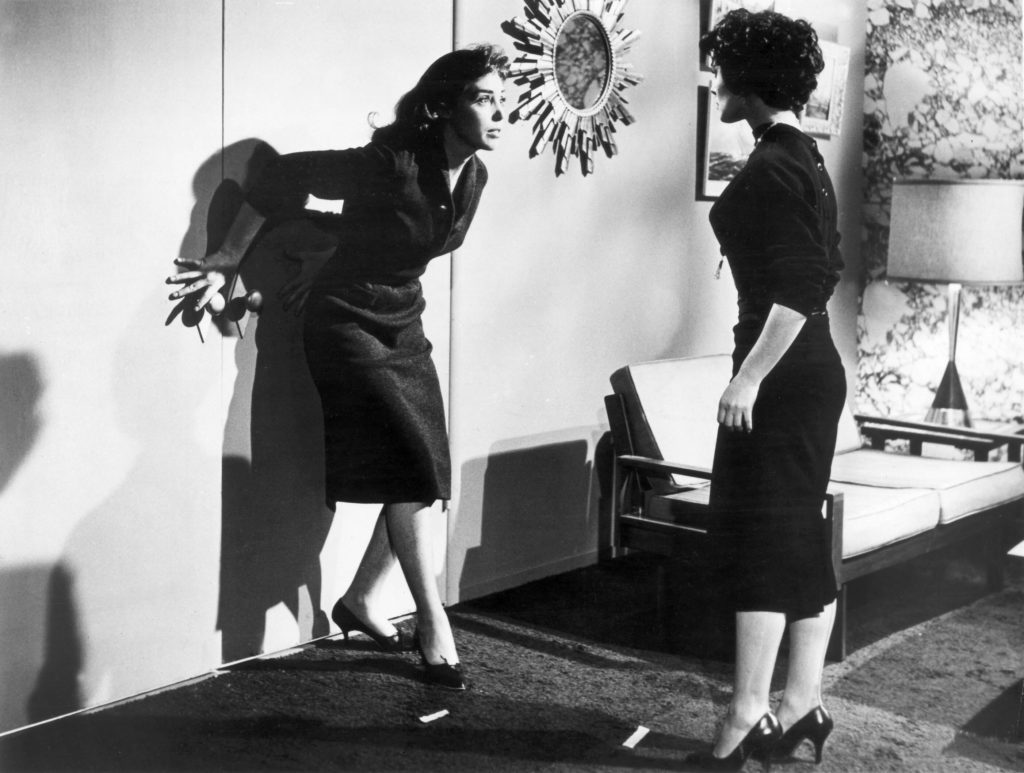 Barboura Morris and Susan Cabot in The Wasp Woman (1959)