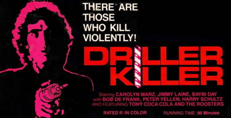 Driller Killer (1979) poster, 1980s horror