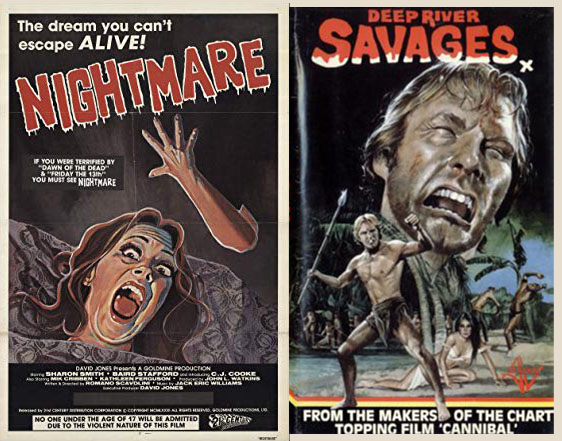1980s video nasty horror posters