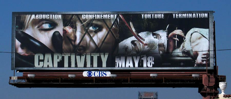 Captivity poster from 2007, 2000s horror movies