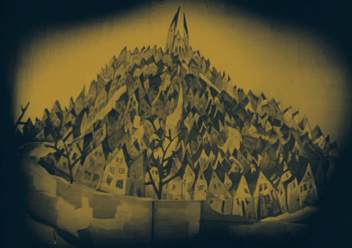The Cabinet of Dr. Caligari (1920) The Expressionist houses of Holstenwall