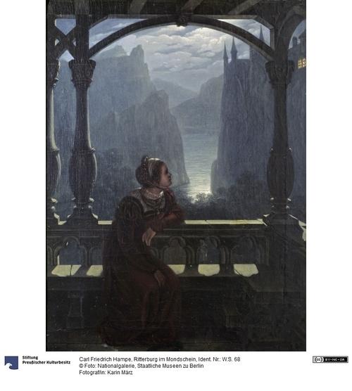 Karl Friedrich Hampe Ritterburg im Mondschein